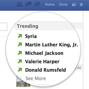 Facebook Trending Feature