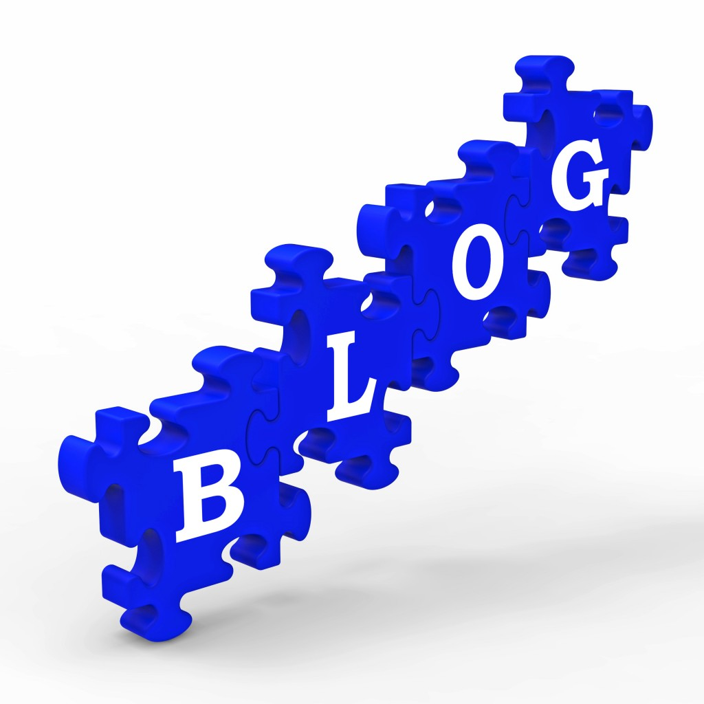 Blog Letters Means Internet Blogging On Websites